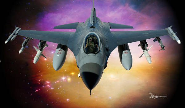 Jet Art Print featuring the photograph Jet Fighter Aircraft F-16 Falcon Aircraft by Ericamaxine Price