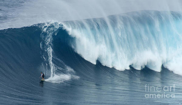 Surf Art Print featuring the photograph Surfing Jaws 5 by Bob Christopher