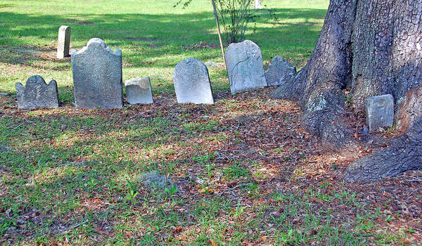 Grave Art Print featuring the photograph The Headstones Of Slaves by Suzanne Gaff