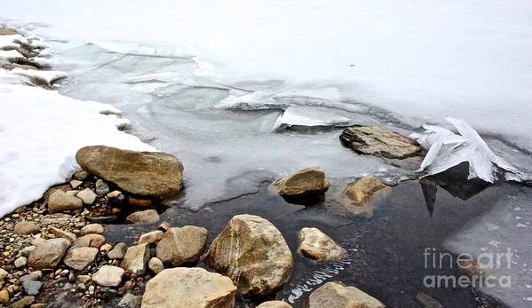 Quabbin Reservoir Art Print featuring the photograph Winter Quabbin by Randi Shenkman