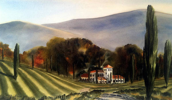 Art Print featuring the painting Vintage Year by Don F Bradford