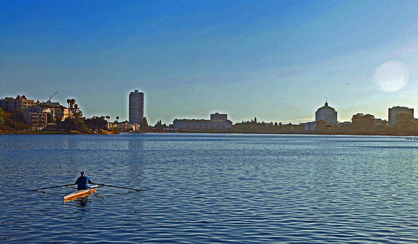 Lake Art Print featuring the digital art Lake Merrit by Joe Fernandez