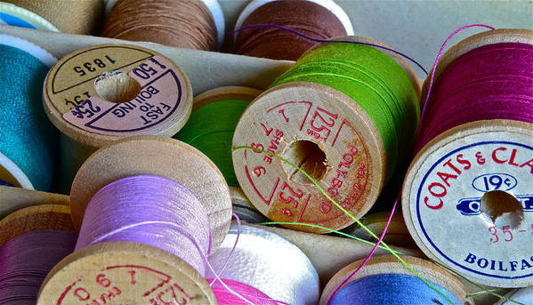 Spools Art Print featuring the photograph More Loose Threads by Bill Owen