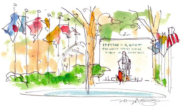 Landscape Art Print featuring the painting Philadelphia Park by Marilyn MacGregor