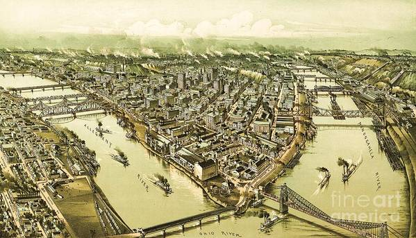 Reproduction Art Print featuring the painting Pittsburg Pennsylvania by Pg Reproductions