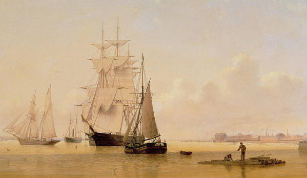 Boat Art Print featuring the painting Ship Painting by WF Settle