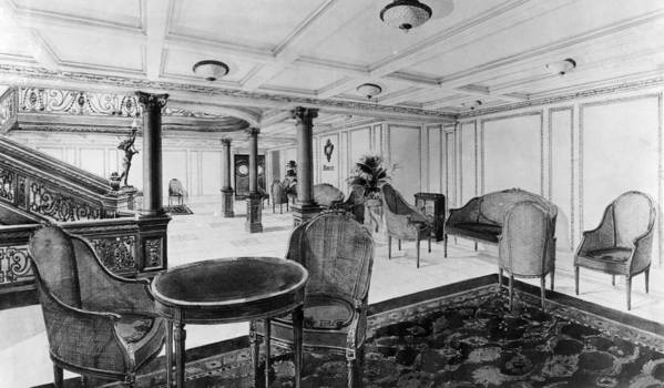 1910s Print featuring the photograph The Restaurant Reception Room by Everett