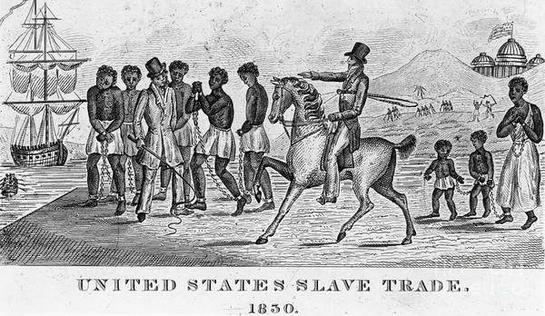 Slavery Art Print featuring the photograph United States Slave Trade by Photo Researchers