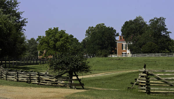 Appomattox Print featuring the photograph View Of Appomattox Courthouse 1 by Teresa Mucha