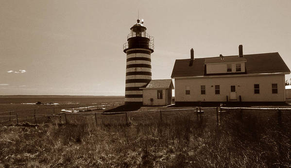 West Quoddy Light Art Print featuring the photograph West Quoddy Lighthouse by Skip Willits