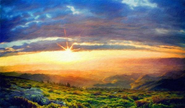 Landscape Art Print featuring the painting Nature Art Original Landscape Paintings by World Map