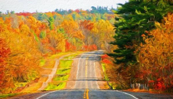 Landscape Art Print featuring the painting Painting Landscape by World Map