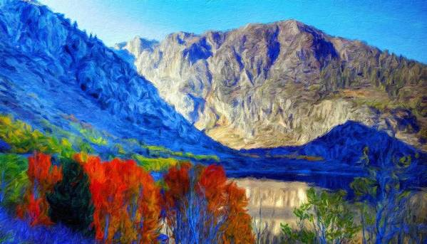 Landscape Art Print featuring the painting Landscape Art Nature by World Map