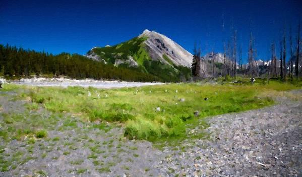 Landscape Art Print featuring the digital art J P Landscape by Usa Map