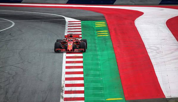 Sauber Art Print featuring the photograph Sebastian Vettel Ferrari by Srdjan Petrovic