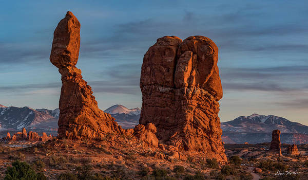 Arches National Park Art Print featuring the photograph Balanced Rock Sunset by Dan Norris