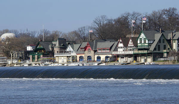 Boathouse Print featuring the photograph Boathouse Row - Philadelphia by Brendan Reals