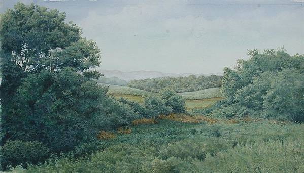 Landscape Art Print featuring the painting Camillus Field by Stephen Bluto