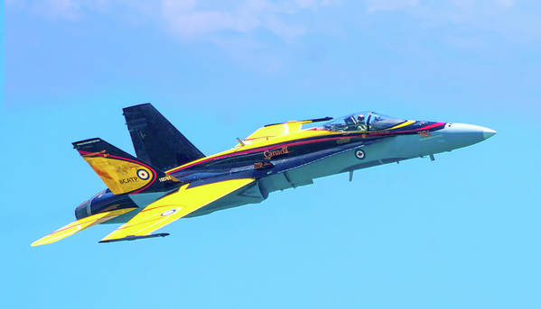 Aviation Art Print featuring the photograph Cf-18 Hornet by Mark Andrew Thomas