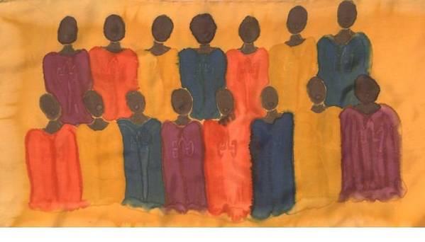 Choir Art Print featuring the painting Choir by Christine Davis