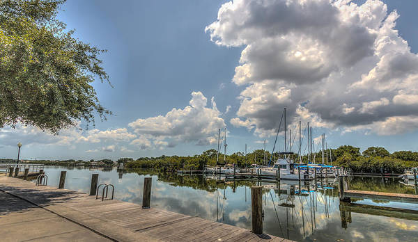 Florida Art Print featuring the photograph Clouds Down The Bay by Jane Luxton