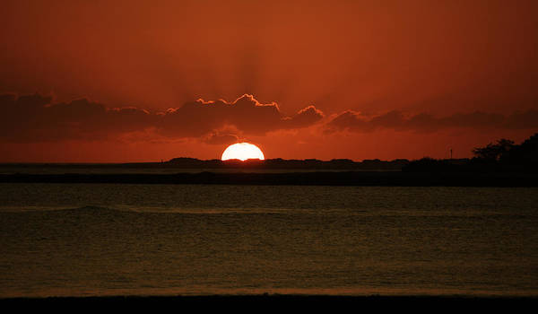 Sunset Art Print featuring the photograph Corralejo Fuerteventura Sunset by Daren Griffin
