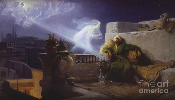 Reve D'orient Art Print featuring the painting Eastern Dream by Jean Jules Antoine Lecomte du Nouy