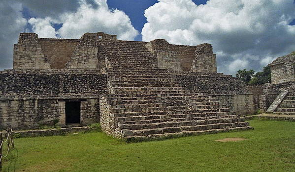 Mayan Art Print featuring the photograph Mayan Ruins 2 by Michael Peychich