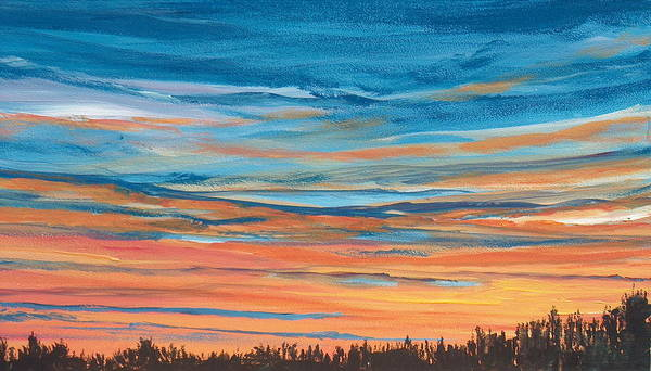 Landscape Art Print featuring the painting Mornin IIi by Pete Maier