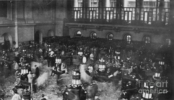 1907 Art Print featuring the photograph New York Stock Exchange by Granger