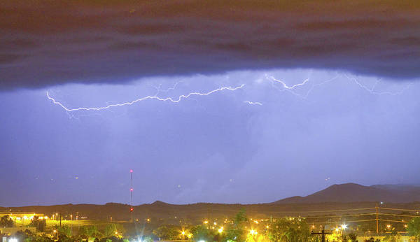 287 Art Print featuring the photograph Northern Colorado Rocky Mountain Front Range Lightning Storm by James BO Insogna