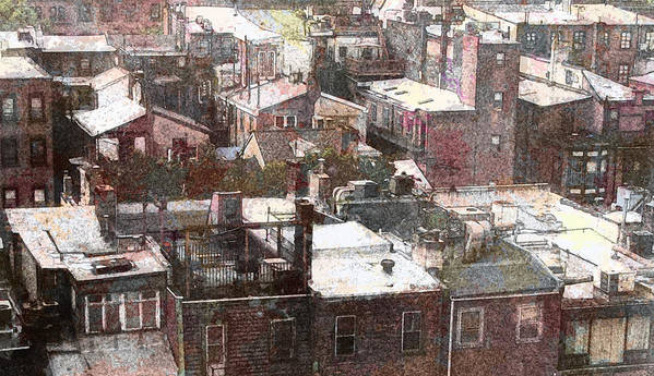 Philadelphia Art Print featuring the photograph Philadelphia Rooftops by Anthony Rapp