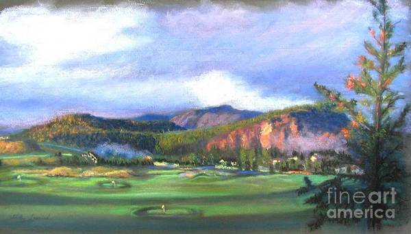 Landscape Art Print featuring the painting Point Of View by Shirley Leswick