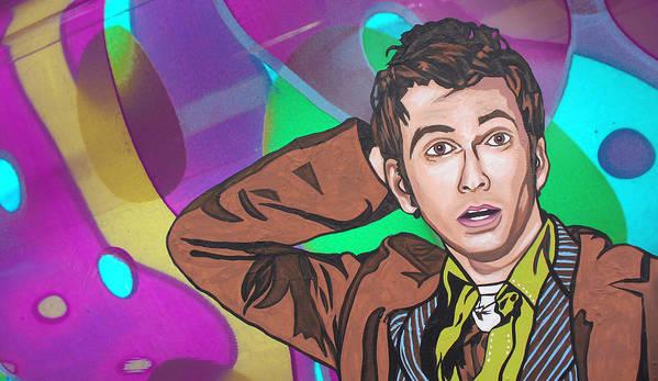 Art Print featuring the digital art Pop Who by Sarah Crumpler