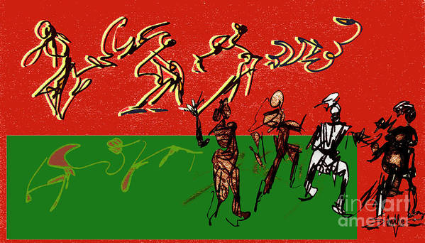 Dance Art Print featuring the digital art Rhythm And Soul by Anthe Capitan-Valais