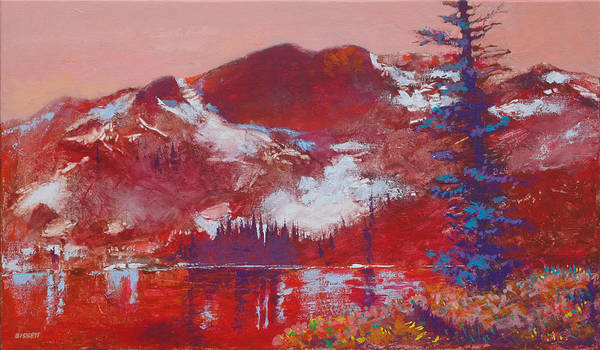 Mountain Art Print featuring the painting Roman Nose by Robert Bissett
