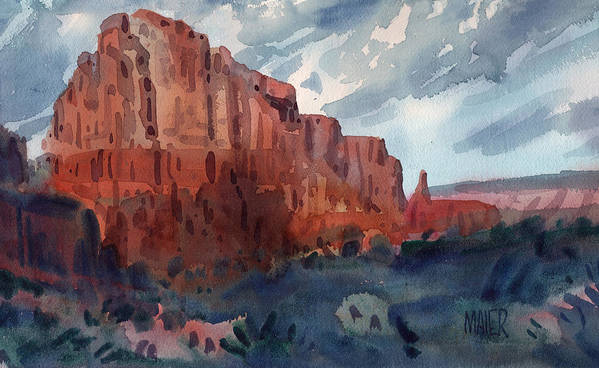 Sedona Print featuring the painting Sedona Redrock by Donald Maier