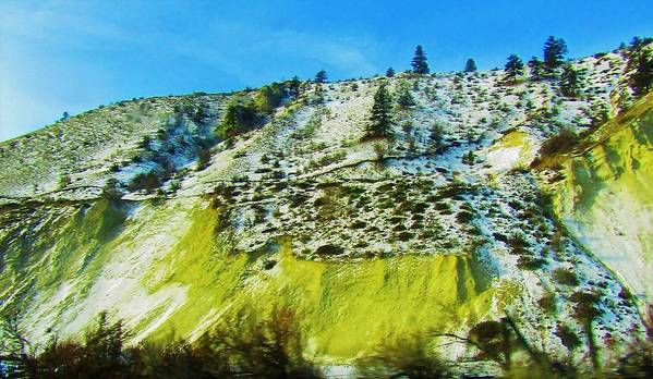 Landscape Art Print featuring the photograph Snowy Rock Mountain by Romelette Metz