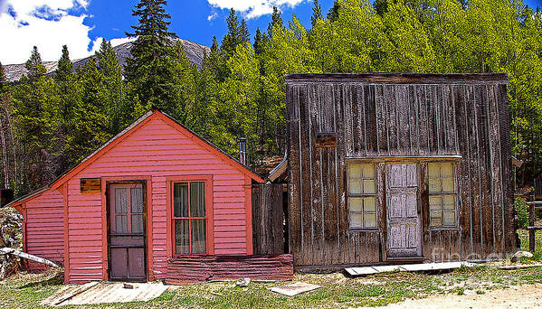 Colorado Art Print featuring the photograph St. Elmo Pink House And Barn by Rich Walter