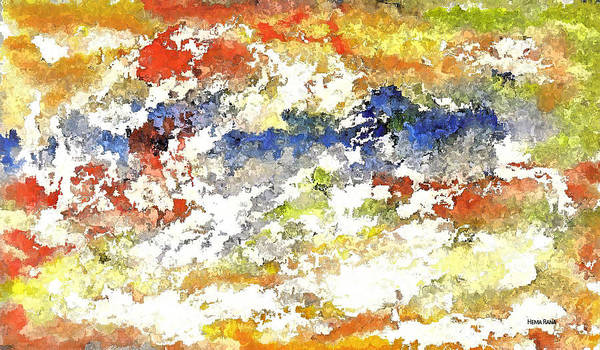 Abstract Art Art Print featuring the digital art Stormy Weather by Hema Rana