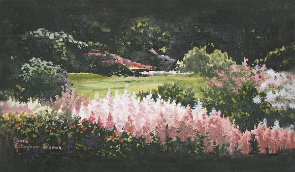 Nature Art Print featuring the painting Summer Garden by Diane Ellingham