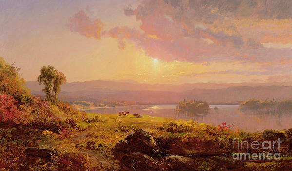 Susquehanna River Art Print featuring the painting Susquehanna River by Jasper Francis Cropsey