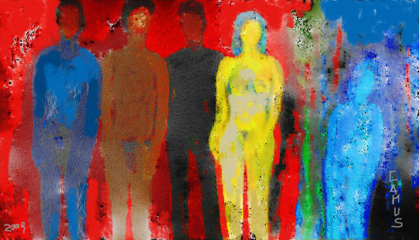 Art Art Print featuring the painting Who by Carlos Camus