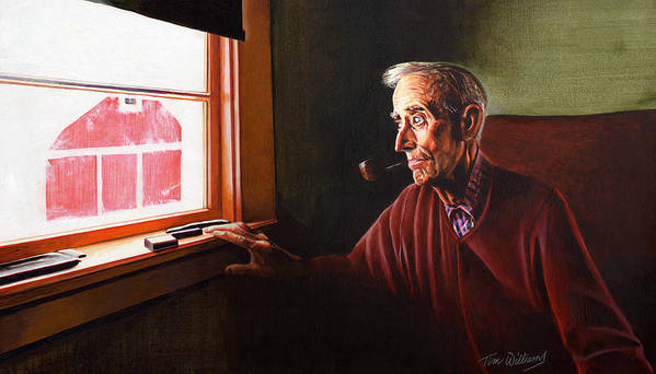 Old Man Art Print featuring the painting Winter Remembrance by Tim Williams