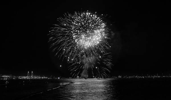 Fireworks Art Print featuring the photograph Chicago Fireworks by Betsy Knapp