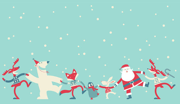 Holiday Art Print featuring the photograph Christmas Dancing by Akindo
