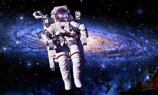 Astronaut Art Print featuring the digital art Astronaut by Dale Jackson