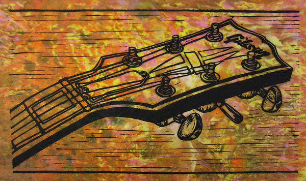 Les Paul Art Print featuring the drawing Gibson by William Cauthern