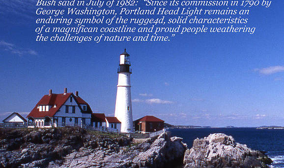Lighthouses Art Print featuring the photograph Portland Head Lighthouse by Skip Willits