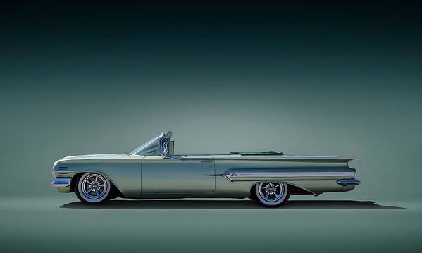 60 Impala Convertible Art Print By Douglas Pittman